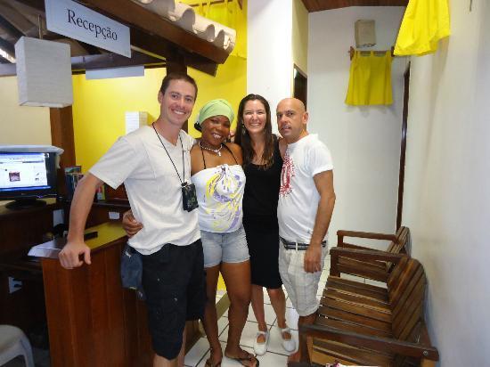 Pousada Farol das Estrelas: Javier y Florencia con Federico y Nancy