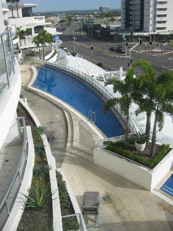 The Sebel Maroochydore: looking down from our apartment