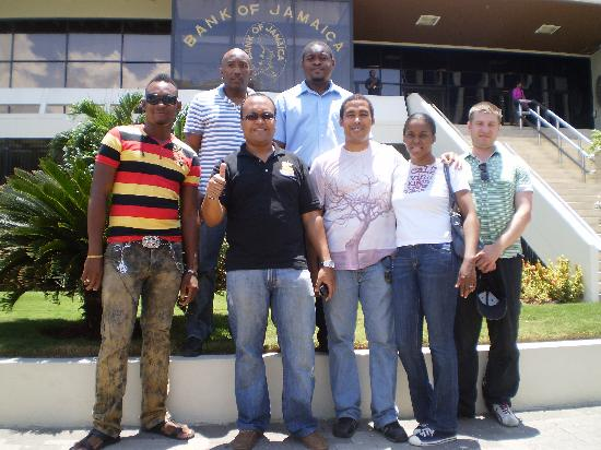 Island Flavour Adventures : Group Photo at Bank of Jamaica