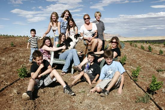 Arizona Hops and Vines: The whole family! This really is a family business and we love having people visit!