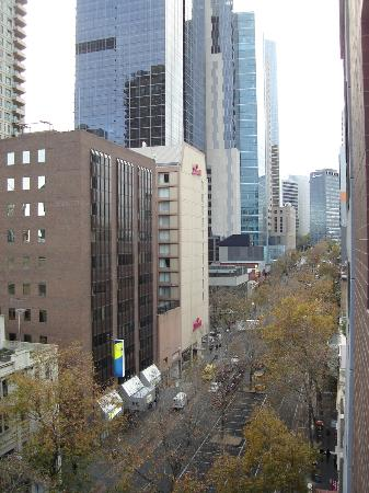 Grand Chancellor Melbourne: View east from room
