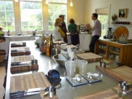 The main work area in the kitchen - Picture of The Agrarian Kitchen ...
