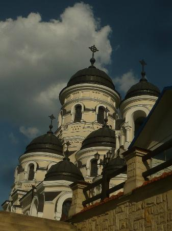 Capriana, Moldova: The church facade