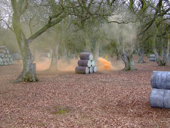 Kings Langley, UK: Use your smoke grenades wisely in the speedball arena