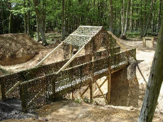 Delta Force Paintball Birmingham: Cross the bridge quickly or you'll be exposed