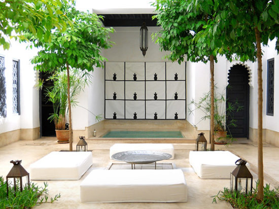 Riad Dar-K: Plunge pool in the courtyard