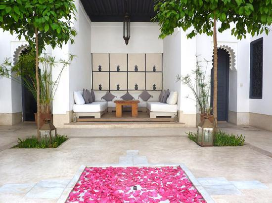 Riad Dar-K: Lounge in the courtyard