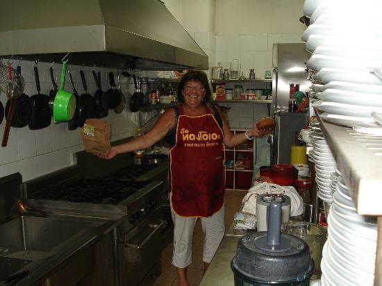 Central Guesthouse: Dans la cuisine de l'hotel !