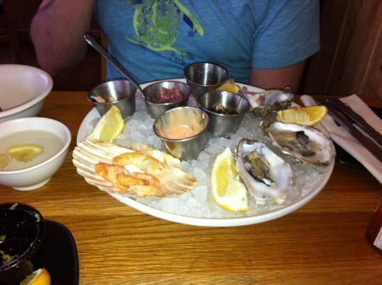 Loch Fyne - Cowbridge: Half eaten platter!