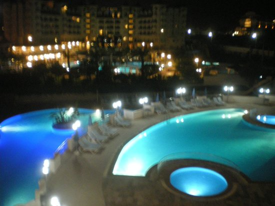 Side Mare Classic: Pool by Night from our balcony