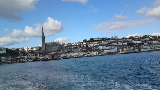 Cobh looking back on the way to Spike Island
