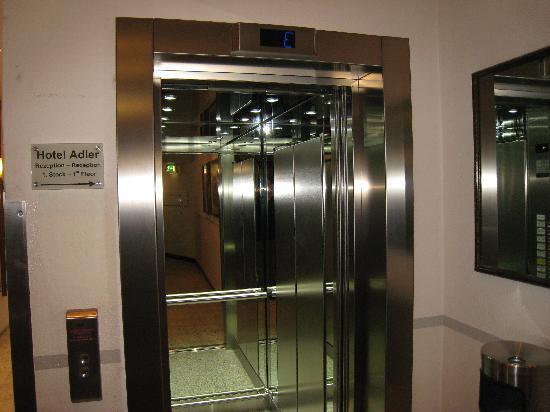 Hotel Adler: Lift to hotel lobby