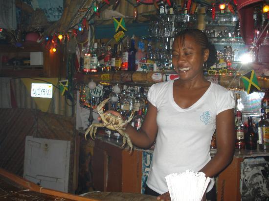 Crystal Waters Villas: Bartender at Tony's Bar