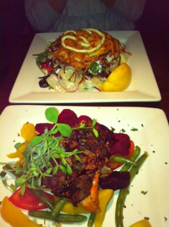 the fish house: artichoke arctic char with roasted beets