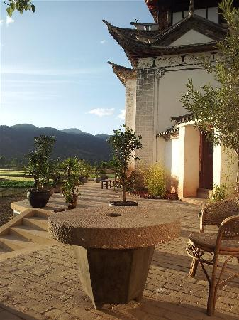 Terrace, Old Theatre Inn, Shaxi Yunnan China