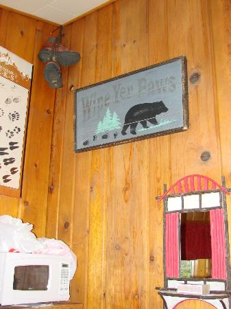 Pine Haven Resort: On our cabin wall