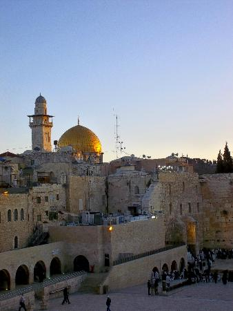 Jerusalem, Israel: Klagemauer und Dome of the Rock