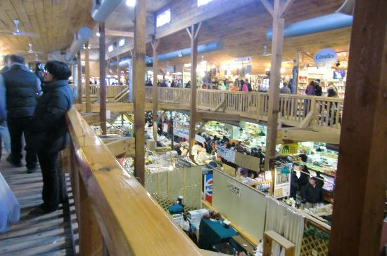 St. Jacobs, Canada: Looking from the balcony down inside the Farmers Market