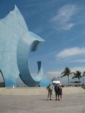 Huge marlin sculpture at Manzanillo malecon