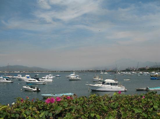 Manzanillo marina seen from malecon walk