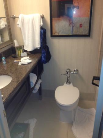Doubletree By Hilton Dallas Market Center: Very Small Bathroom With Old  School Toilet
