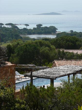 Les Bergeries de Palombaggia : Vue depuis la terrasse de la chambre suite