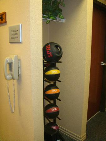 Hampton Inn Longmont: Hotel Exercise Room- Exercise Balls