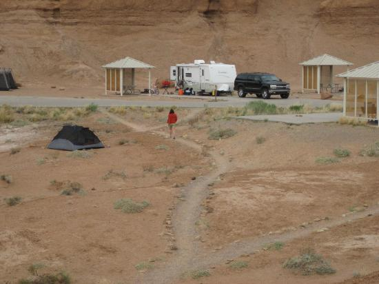 Campground at Goblin Valley State Park