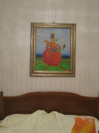 Pension Residenz: Painting above the bed