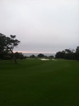 First hole of Spyglass Hill Golf Course - Pebble Beach, CA