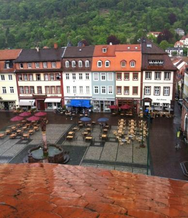 Hotel Goldener Falke: View from our room