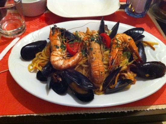 sea food pasta at Osteria Da Clara