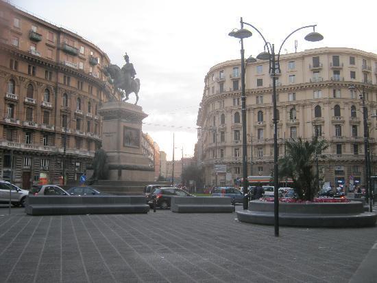 Naples, Italy: Piazza Bovio