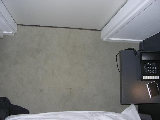Hotel Le Bailli de Suffren: stains on the carpet as you enter