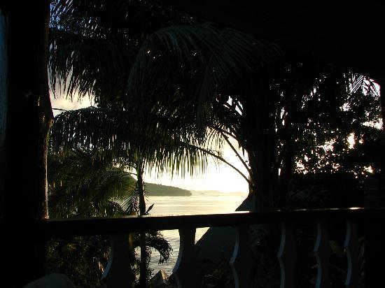 Le Grand Bleu: sunrise from the balcony