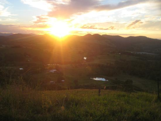 Amamoor Homestead: On of the gorgeous views at sunset.