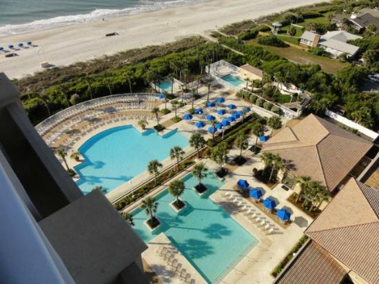 Myrtle Beach Marriott Resort & Spa at Grande Dunes: view of pools from room