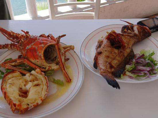 Ocean View Bar & Grill: Chef Sue turned our fish into this amazing dishes!!