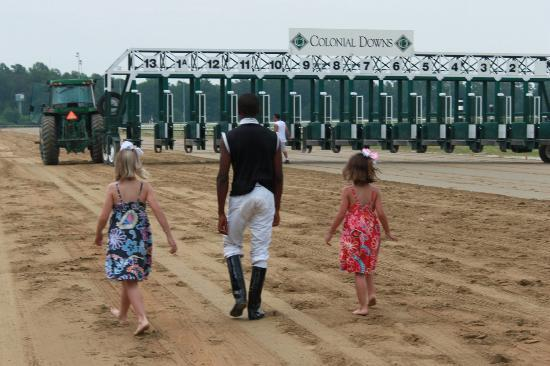 Colonial Downs: Yes they really get to load in the starting gate