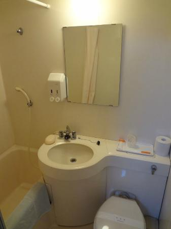Hotel New Station: Toilet/Washlet. Typical economy-sized
