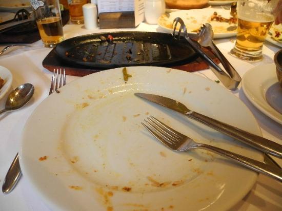 Aagrah - Shipley: My Tandoori chicken when I had finished eating