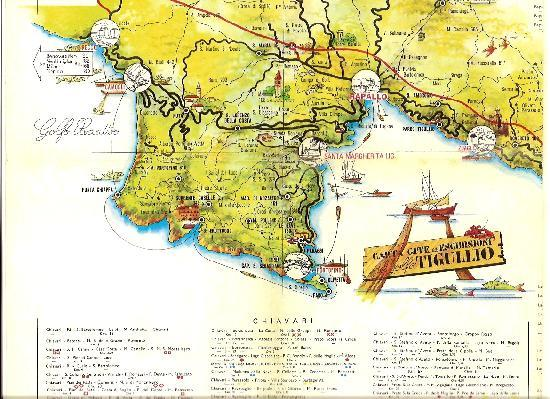 An Old Map Of The Area Picture Of Villa Olimpo B B Rapallo
