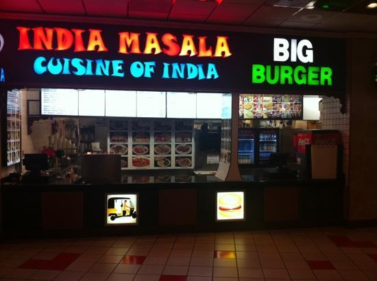Small indian restaurant in the fashion show mall food court