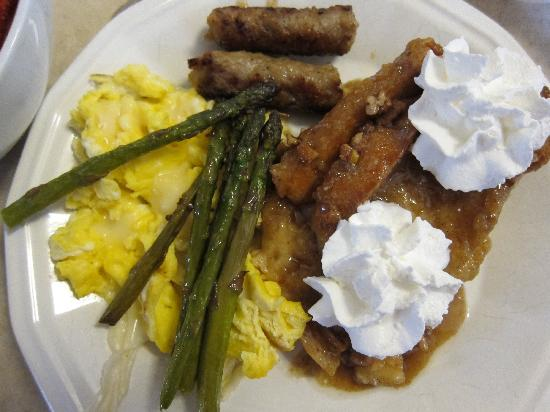 Davie School Inn: 1 of Gary's special Breakfasts