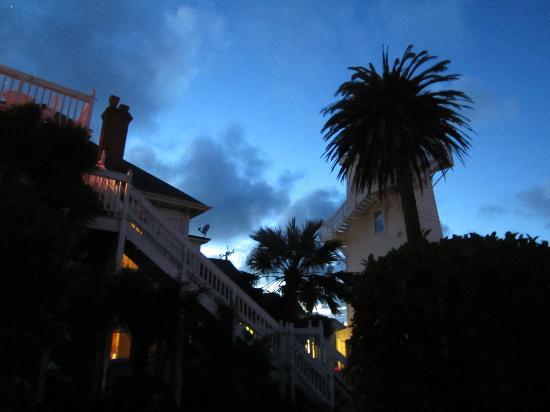 Weller House Inn: from the back yard at sunset