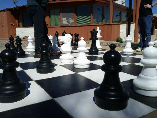 Flying E Ranch: Patio chess