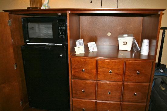 BEST WESTERN Gardens Hotel at Joshua Tree National Park: Microwave and fridge.