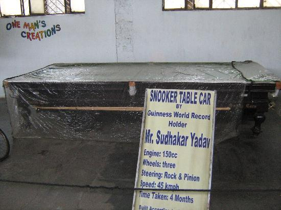 Sudha Cars Museum: Snooker table car