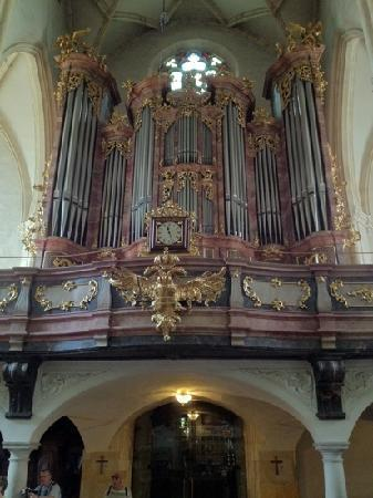 Cathedral (Domkirche) : Organ and clock with double eagle symbol