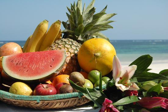 Diani Blue: Tropical fruit selection on The Ledge